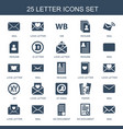 25 letter icons vector image vector image
