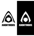 a letter based anonymous or alias symbol vector image vector image