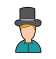 antique gentleman avatar character vector image