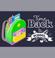 back to school concept black banner vector image vector image