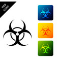 biohazard symbol icon isolated on white background vector image vector image