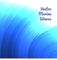 Blue marine waves vector image