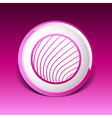 button glass orb disco icon round vector image vector image