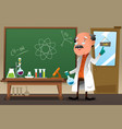 chemistry professor working at the lab vector image