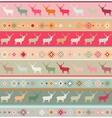 Christmas reindeer nordic pattern vector image vector image