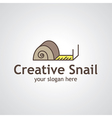 creative snail vector image vector image