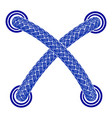 cross shoelace icon simple style vector image vector image