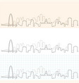 dallas hand drawn skyline vector image vector image
