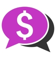 Financial Chat Flat Icon vector image vector image