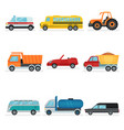 flat set of different urban transport vector image vector image