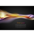 glowing waves on the dark background vector image vector image