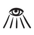 Hand drawn eye symbol icon vector image