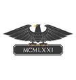 Heraldic eagle 21 vector image vector image