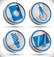 Household appliances icons set 3 vector image vector image