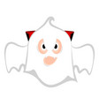 isolated cute halloween vampire ghost vector image vector image