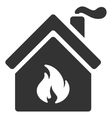 Kitchen Fire Flat Icon vector image