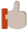 like icon social media thumb up symbol on white vector image