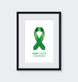 liver cancer awareness frame vector image