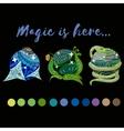 magic balls vector image