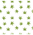 marijuana leaves seamless pattern on white vector image vector image