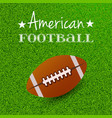 merican football and rugby sports theme of list vector image