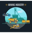 Mining Industry Background vector image vector image