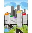 Modern metropolis vector image vector image