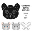 mouse muzzle icon in cartoon style isolated on vector image vector image