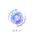 neon revenue line icon vector image