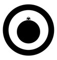 new years sphere christmas ball black icon in vector image