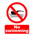no swimming vector image vector image