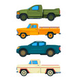 pickup truck transport of vector image
