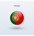 Portugal round flag vector image