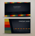 Premium business Card Set EPS10 vector image