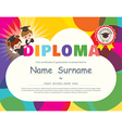 Preschool Elementary school Kids Diploma vector image vector image