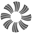 propeller like geometric graphic circular spiral vector image vector image