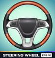 Realistic Steering Wheel vector image vector image