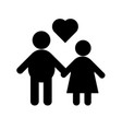 relationship icons vector image vector image