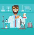 scientific research concept vector image