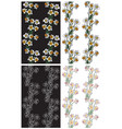 seamless pattern flowers narcissus vector image vector image