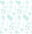 Seamless pattern with sea vacation elements