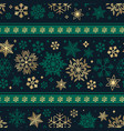 seamless ribbon with christmas snowflake pattern vector image vector image