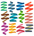 set of multicolored flat empty ribbons vector image vector image
