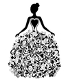 silhouette of beautiful dress vector image vector image