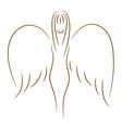 sketch angel vector image vector image