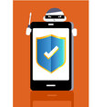 Smart Phone Protect vector image
