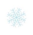 snowflake icon sign vector image vector image