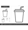 soda line icon vector image vector image