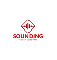 sound music logo vector image