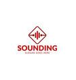 sound music logo vector image vector image